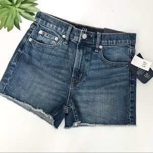 Gap Denim high rise cut off shorts